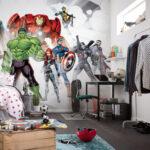 """Digital print photomural for walls """"Avengers Unite"""" by Komar"""